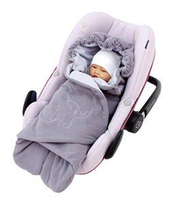 leichte Decke für Babyschale Maxi Cosi Sommer Baby Einschlagdecke mit Füßen